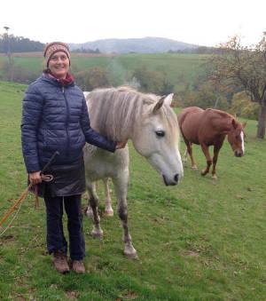 Frau Meininger-Schön mit Pferd Safi